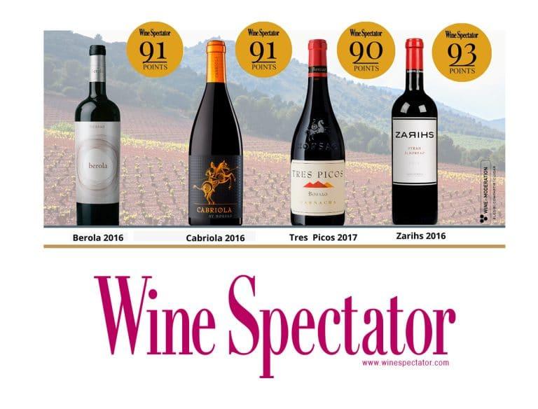 Borsao wines points of Wine Spectator